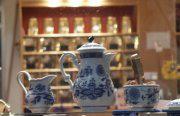 Duni 50 assiettes en carton décor bleu bavarois