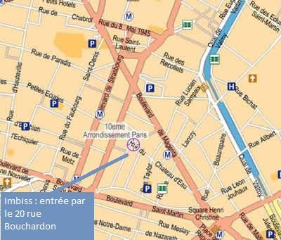 Plan accès au Marché Saint Quentin