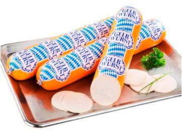 4- Gugel Bayerisch Gelbwurst  mit Kalbfleisch 1000g