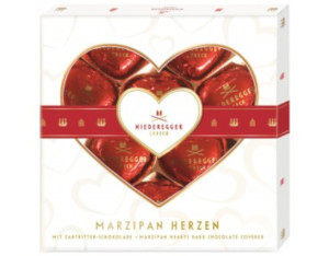 Niederegger Marzipan Herzen 125g für 10 stück
