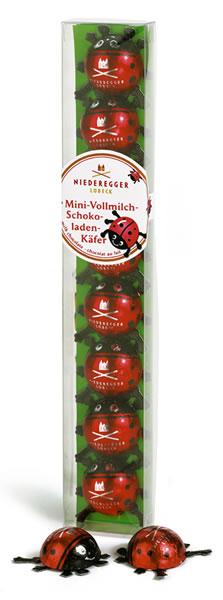 Niederegger Mini-Vollmich-Schokoladenkäfer 50g für 8 Stück