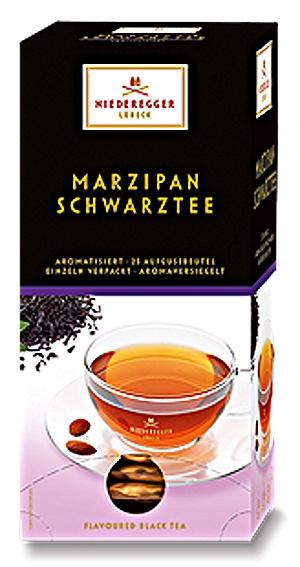 Niederegger Marzipan Schwarztee 43,75g für 25er x 1,75g