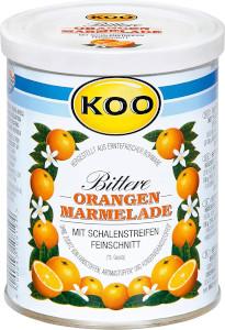 Koo Orangen Marmelade Bittere mit Schalenstreifen 450g
