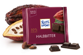 Ritter Sport Halbbitter 50% Kakao 100g