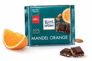 6- Ritter Sport Mandel-Orange 100g