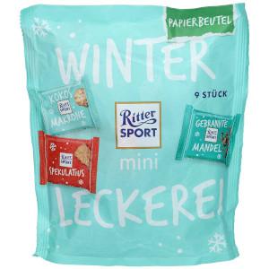 Ritter Sport mini Winterleckerei Mix Tüte 150g für 9 Stück
