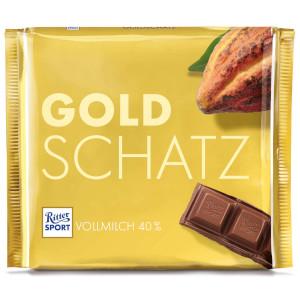 3- Ritter Sport Vollmilch Goldschatz 250g
