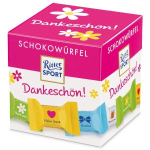 2- Ritter Sport Schokowürfel Dankeschön 176g für 22 Stück