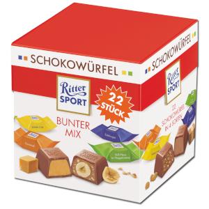 2- Ritter Sport Schokowürfel Vielfalt (Bunter Mix) 176g für 22 Stüc