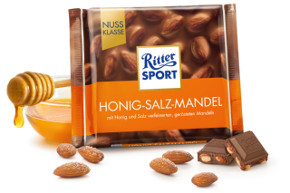 3- Ritter Sport Honig-Salz-Mandel 100g
