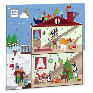 Ritter Sport Adventskalender mit Schokolade Weihnachtsdesign 347g