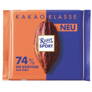 4- Ritter Sport Kakao Klasse 74% 100g