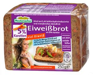 4- Mestemacher Eiweissbrot mit 5% Karotten 250g