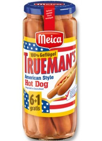 Meica 6+1 Trueman's Hot Dog American Style 100% Geflügel 540g