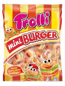 Trolli Gummi Candy Mini Burger 50er x 10g = 500g