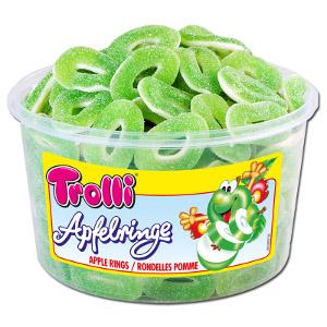 Trolli Saure Apfelringe Gummibonbons 1200g für 150 Stück