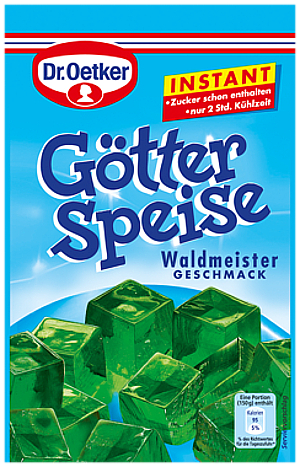 2- Dr.Oetker Götterspeise Waldmeister Instant 100g