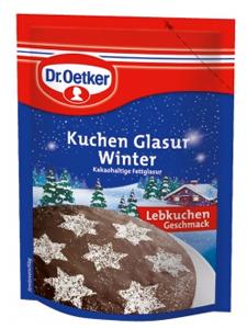 2- Dr.Oetker Kuchen Glasur Winter Lebkuchen Geschmack 125g