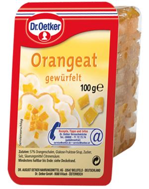 Dr Oetker Orangeat gewürfelt 100g