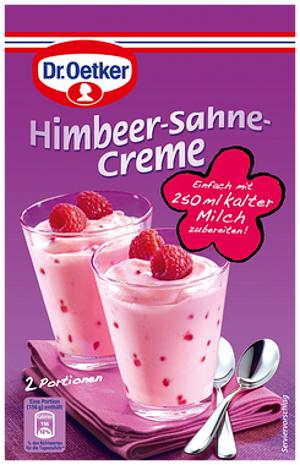 4- Dr.Oetker Himbeer-Sahne-Creme 62g