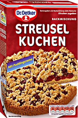 Dr.Oetker Backmischung Streusel Kuchen & Puddingcreme 485g