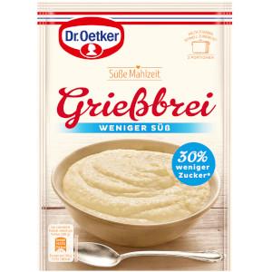 Dr.Oetker Süsse Mahlzeit Griessbrei Weniger Süss 76g