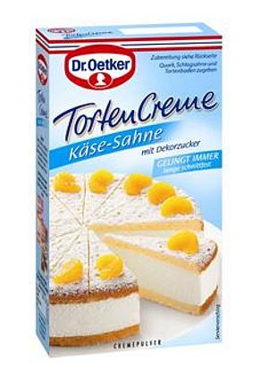 Dr Oetker Tortencreme Käse-Sahne mit Dekorzucker