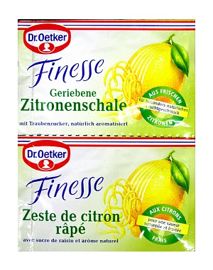2- Dr.Oetker Finesse Zitronenschale Geriebene  2er x 6g