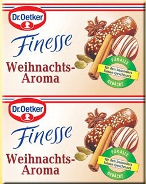 2- Dr.Oetker Finesse Weihnachts Aroma 2x5.5g