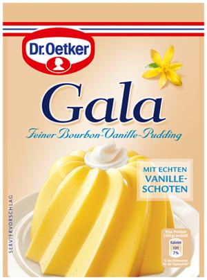 Dr Oetker Gala Vanille Pudding mit Echten Vanilleschoten 3er