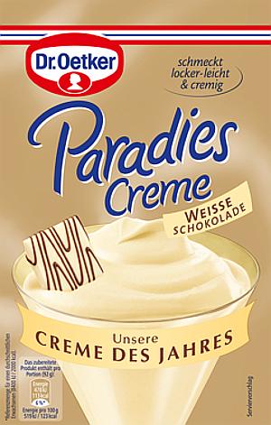 6- Dr.Oetker Paradies Creme Des Jahres Weisse Schokolade 70g