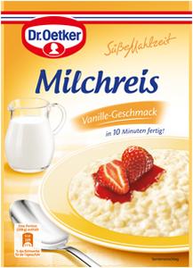 Dr.Oetker Süße Mahlzeit Milchreis Vanille Geschmack 125g