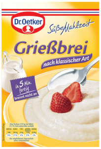 Dr Oetker Süße  Mahlzeit Griessbrei