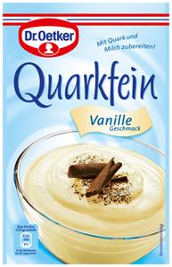 6- Dr.Oetker Quarkfein Vanille Geschmack 57g für 4 Portionen