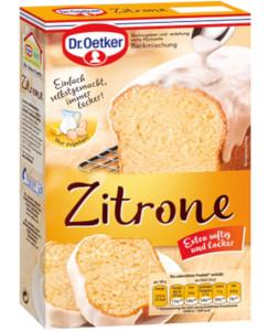 Dr Oetker Backmischung Zitronen Kuchen