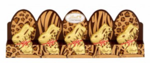 Lindt 5 Mini-Goldhasen Edition Tiermuster 50g