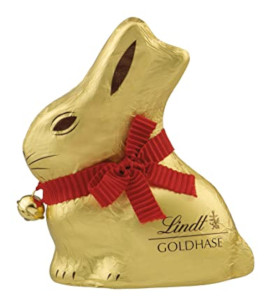 Lindt Frohe Ostern Goldhase Alpenvollmilch-Schokolade 100g