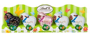 Lindt 5 Oster-Schäfchen aus Vollmilch Schokolade 50g
