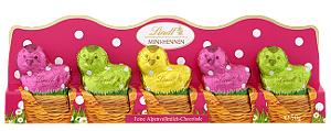 Lindt 5 Mini-Hennen aus Vollmilch Schokolade 50g