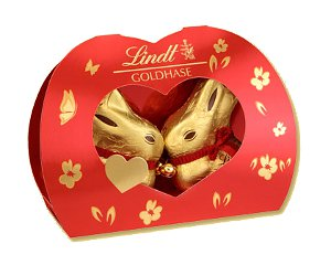 Lindt Ostern 2 Gold Hasen