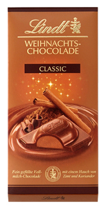 2- Lindt Weihnachts-Chocolade classic 100g
