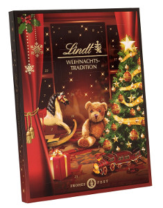 Lindt Adventskalender Weihnachts-Tradition Frohes Fest 253g