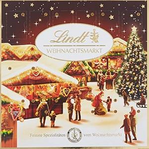 Lindt Adventskalender - Weihnachtsmarkt Tischkalender - 115g
