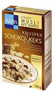 3- Kölln Müsli Knusper Schoko & Keks 500g