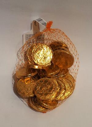 Trumpf Goldmünzen im Netz Kaubonbons Schokolade (150G)