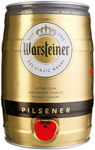 Warsteiner Pilsener Alk. 4,8% vol fût de bière 5L