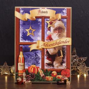 9- Asbach Adventskalender 260g, Schokolade 24 Stück