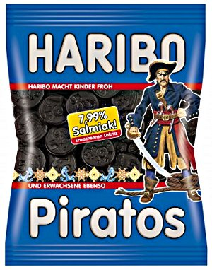 Haribo Piratos mit Salmiak Extra stark (200g)