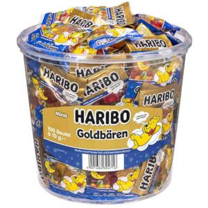 Haribo Gute Nacht-Goldbären Minibeutel (100 Stück) 1000g