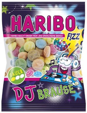 Haribo DJ Brause sauer, saures Fruchtgummi, Fizz 175g